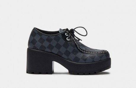 Amil checkered chunky shoe
