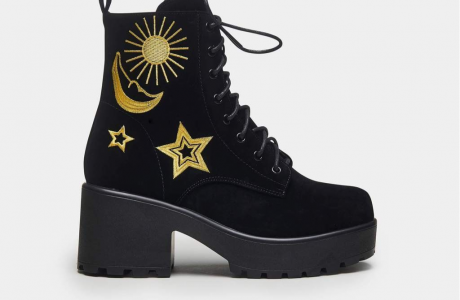 Astro Star and Moon Boots
