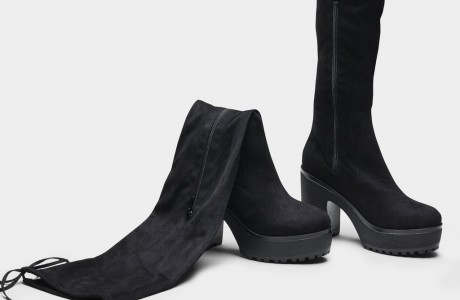 Athos Chunky Tie Over The Knee Boots