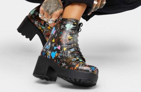Futura Graffiti Military Boots