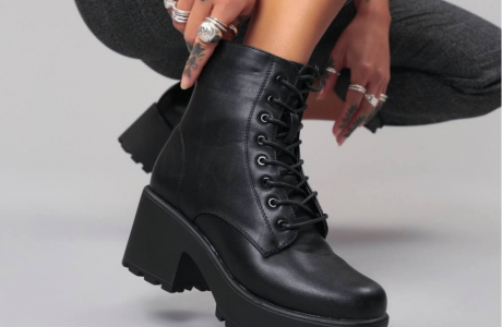 Gin Platform Military Boots