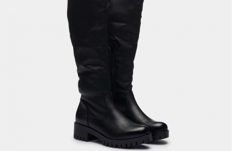 Longo Knee High Flat Boots
