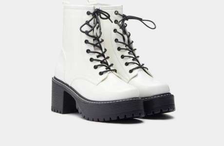 OSAGE Rock White Military Boots