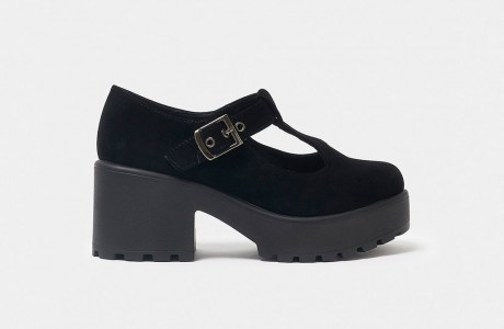 Sai Black Suede Mary Janes
