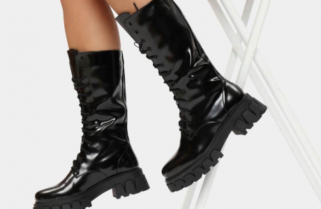 Trinity Black Knee High Boots