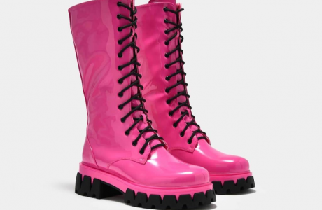 Trinity Pink Knee High Boots