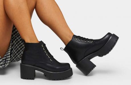 YUCHI Rock Lace Up Boots